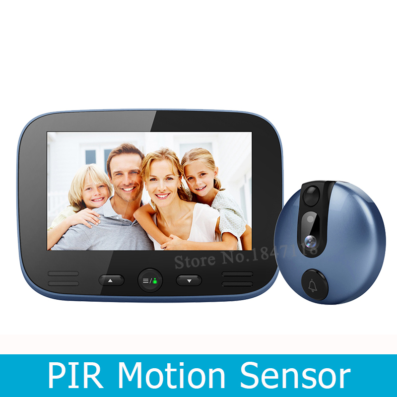 New 4 3 Colorful LCD Screen PIR Motion Sensor Doorbell Camera Auto Photo Video Recording 1