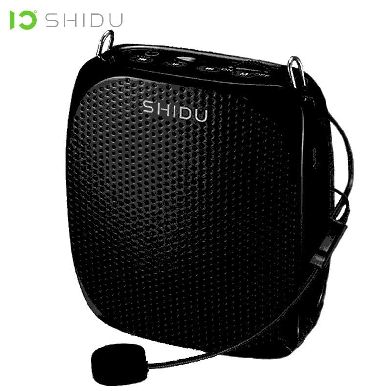 SHIDU Wired Áudio Mini Speaker Portátil Amplificador de Voz Microfone Altifalante de Som Estéreo Para Professores Instrutor S258 Naturais