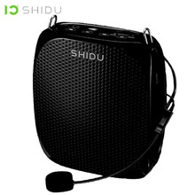 SHIDU S258 10 Вт Портативный голосовой усилитель, проводной микрофон, мини звуковой динамик, естественный стерео звук, Громкий динамик для учителей, речь