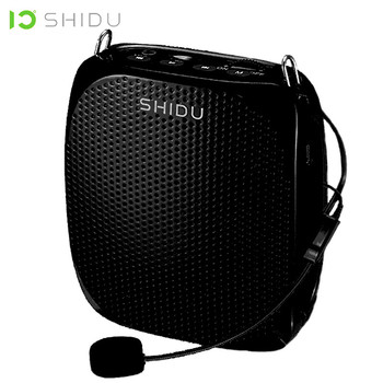 SHIDU S258 10W Portable Voice Amplifier Wired Microphone Mini Audio Speaker Natural Stereo Sound Loudspeaker For Teachers Speech portable fm radio loudspeaker with microphone voice amplifier booster megaphone speaker for teaching tour guide sales promotion