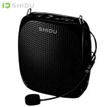 Shidu s258 10w portátil amplificador de voz microfone com fio mini alto falante de áudio estéreo natural som para professores fala