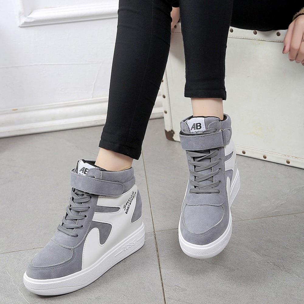 Womens Shoes Platform Sneakers Tenis Feminino Flat Black Shoes Woman Zapatillas Mujer Casual Sapato Feminino High Quality Shoes 3