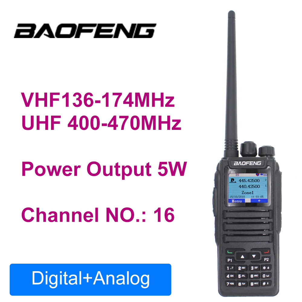 Baofeng Dual Band Vhf Uhf Analog Digital Walkie Talkie DM-1701 Tier 1+2  Ham Amateur 2-WAY-Radio Station