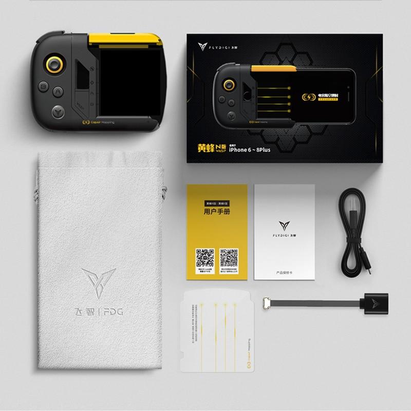 Xiaomi Flydigi guêpe téléphone manette de jeu pour PUBG Mobile pour arène de bravoure pour Iphone X XS Max 8 7 6 Plus X One-Hand Control