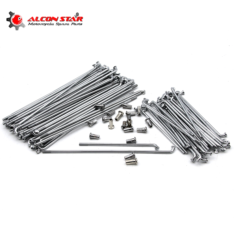 Alconstar Stainless Steel Retro Moto Front and Rear Rim Wheel Spokes Kit Set for BMW R12