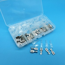 120pcs  Female Spade Connector 6.3 4.8 2.8 Splice with Insulating Sleeves For Terminals