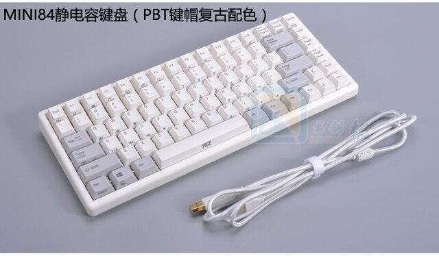 Plum84 électrostatique capacitif mécanique clavier 35g RGB rétro-éclairé compact gaming clavier PBT keycap amovible 84 mini plum