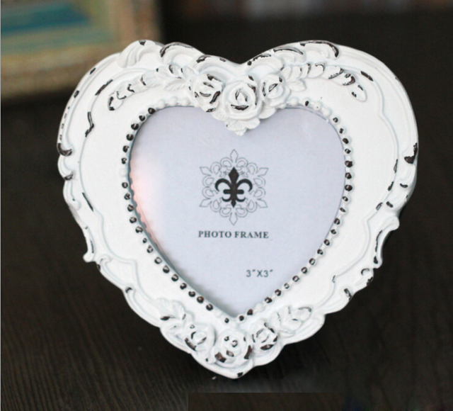 1 Pcs Vintage Picture Frames Heart/Square/Oval Europe Wedding Gift ...