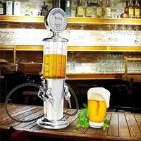 Hot Double Pipe Beer Drink Beverage Dispenser Milk Juice Liquor Pump Machine Bar Butler T10