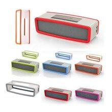 Renkli taşınabilir silikon kılıf Bose SoundLink Mini 1 2 ses bağlantısı I II Bluetooth hoparlör koruyucu kapak cilt kutusu hoparlörler