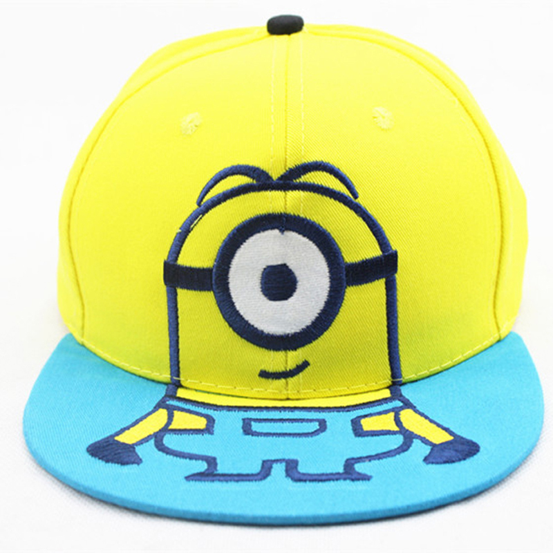 Korean version Autumn And Winter Small Yellow Man Cartoon Embroidery  Children Baseball hats Boys Girls Casual Outdoor Sun Hat-in Hats   Caps  from Mother ... 6dfc3dfafd8c