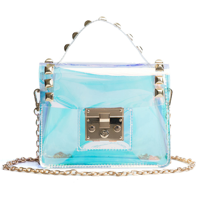 TTOU Women Summer Messenger Bags For Girls Sac a Main Female Laser Holographic Shoulde Bags Beach Pvc Transparent Crossbody Bag toyoosky women summer crossbody bag pvc transparent composite bags set with purse waterproof quilted plaid beach handbags female