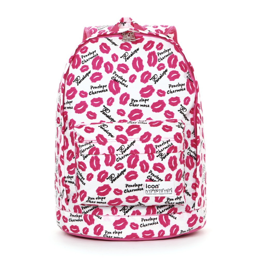 Aliexpress.com : Buy 2014 Youth Girls' Lips Printing Backpack ...