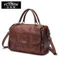 Женские большие сумки из мягкой натуральной кожи, сумочки через плечо ручной работы, ретро сумки-мессенджеры, женские кошельки с ручкой све...