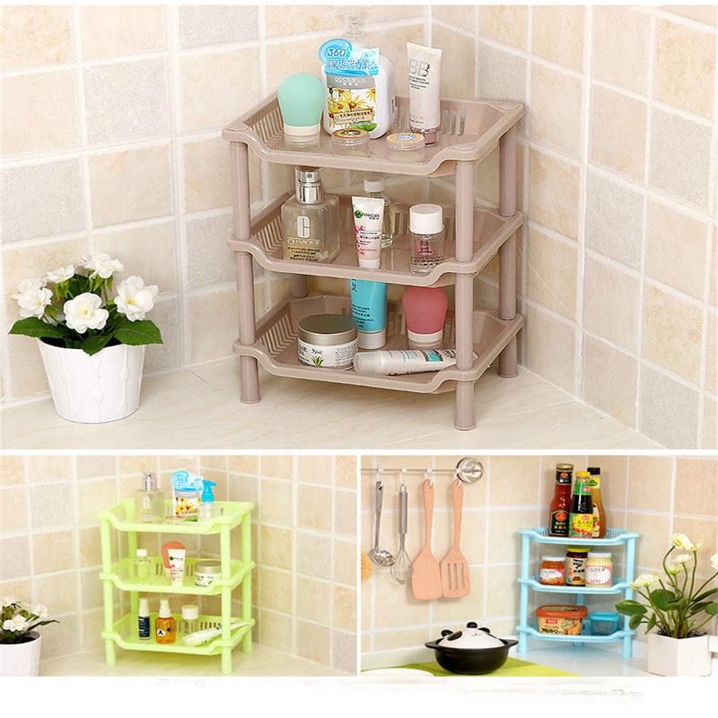 NEW Fashion Shelf Kitchen Storage Detachable Three Layer Magazine Rack  Bathroom Shower Shelf PP Rack Floor Type Bathroom Shelves In Storage  Holders U0026 Racks ...