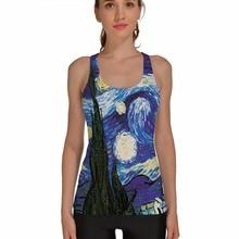aadb43320dd76 Popular 3D Blue Sports Tank Tops Women Sexy Sleeveless T Shirt Clothes  Elastic Yoga Running Vests