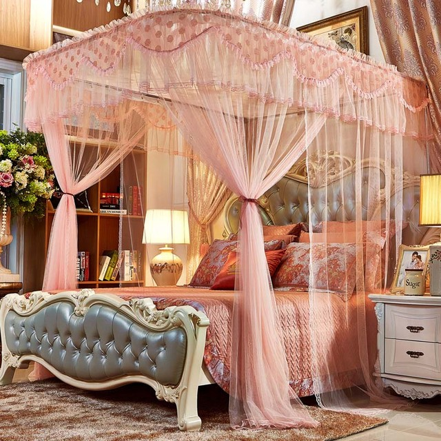 LOVEWM Luxury Romantic Hung Dome Mosquito Net Princess Insect Bed Canopy Netting Lace Round Mosquito Nets & LOVEWM Luxury Romantic Hung Dome Mosquito Net Princess Insect Bed ...