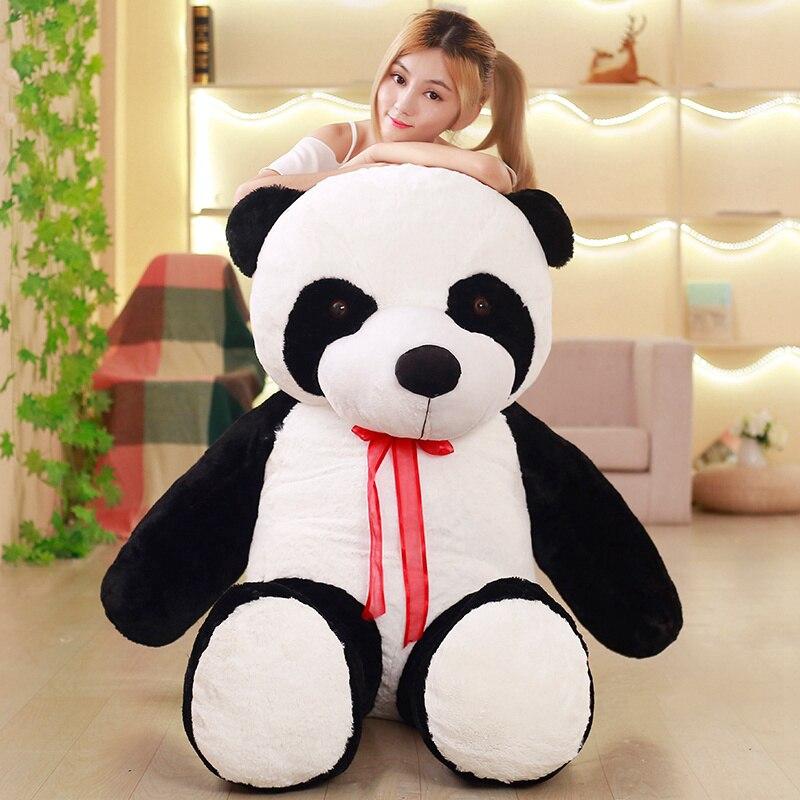 Cute 80/100CM Baby Big Giant Panda Bear Plush Stuffed Animal Doll Animals Toy Pillow Cartoon Kawaii Dolls Girls Gifts