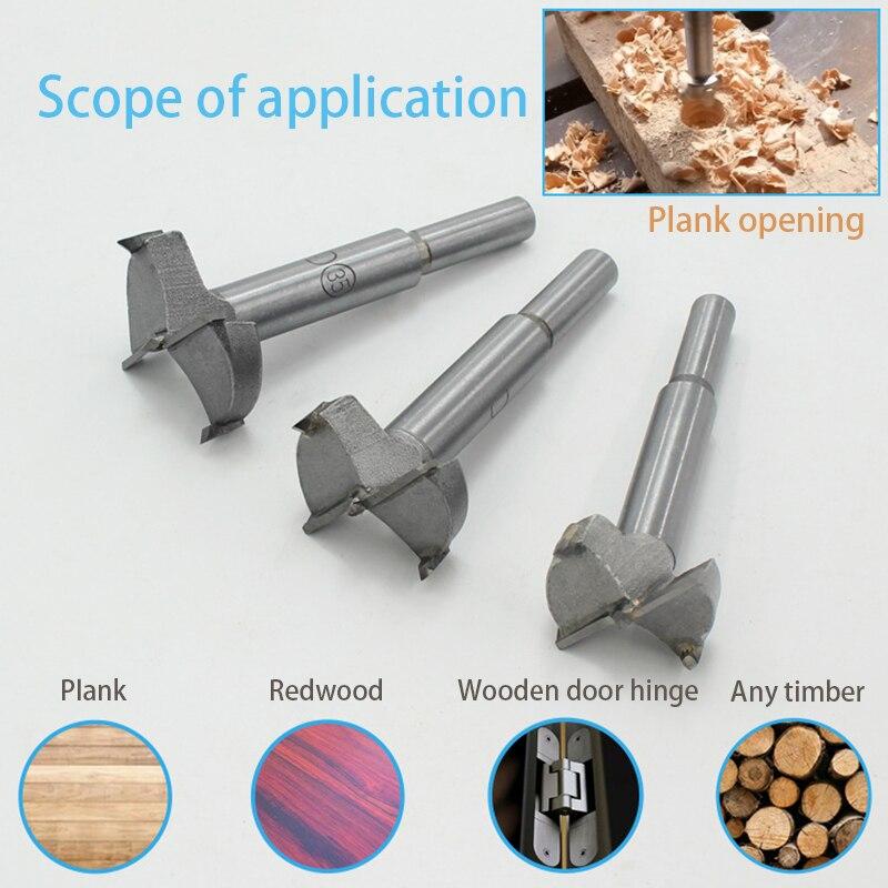 Forstner Wood Drill Bit Self Centering Hole Saw Cutter Woodworking Tools Set 15mm,20mm,25mm,30mm,35mm Forstner Drill Bits