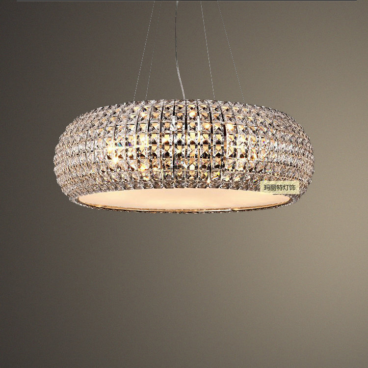 Parlor lustres de cristal Luxury K9 crystal modern pendant light lamp for living room bedroom 110v 220v free shipping dhl ems 2 sets 1pc new turck bi2 eg08 rp6x