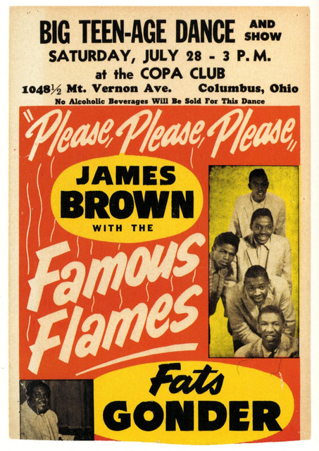 Vintage Advertising Concert Poster James Brown Music Classic Canvas ...