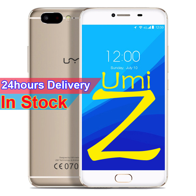 "Umi Z Smartphone Android 6.0 MTK Helio X27 Cellphone 4GB RAM 32GB ROM 5.5""FHD Screen 13.0MP Cam Fingerprint LTE 4G Mobile phone"