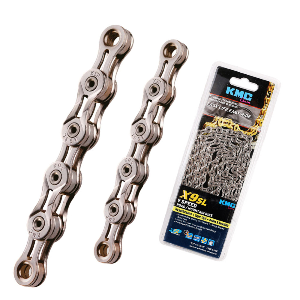 Silver KMC X9SL 9 Speed Chain