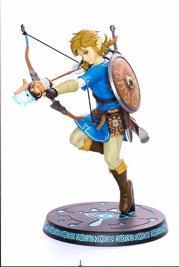 Link Zelda Legend Of Zelda Figura RESPIRO DELLA NATURA SELVAGGIA di COLLEGAMENTO 32 CM Action Figures Modello Pvc Rinquedo майка классическая printio link legend of zelda
