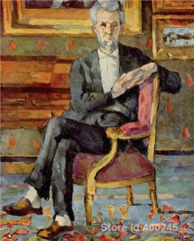 Best Art Reproduction Portrait of Victor Chocquet Seated Paul Cezanne Paintings for sale hand painted High quality