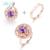 L & 1.61ct zuan 925 plata esterlina Amethyst Púrpura de Piedra Joyería del Anillo de Ajuste Del Diente Dos tipos de desgaste para Mujer regalo