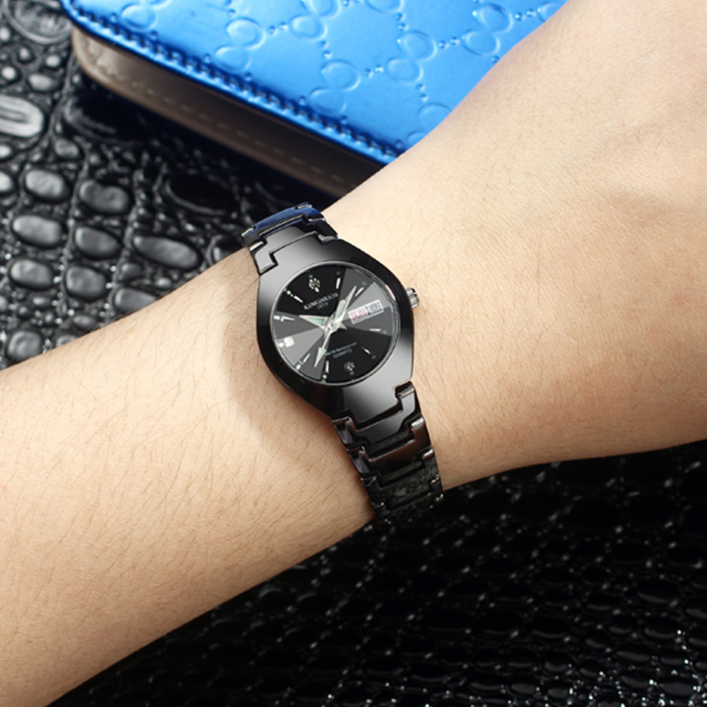 Lovers Watches Luxury Quartz Wrist Watch for Men and Women Hodinky Dual Calender Week Steel Saat