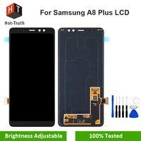 Лидер продаж правда SUPER AMOLED ЖК дисплей Экран для samsung Galaxy A8 плюс 2018 A730 Сенсорный экран планшета Ассамблеи A730F A730x Замена