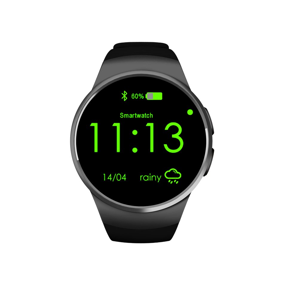 KW18 Smart Watch Android/IOS Smartwatch Bluetooth Reloj Inteligente Wearable Devices SIM Round Heart Rate Monitor Watch Clock bluetooth smart watch uc08 smartwatch sim card reloj inteligente support hebrew for iphone samsung huawei xiaomi android ios