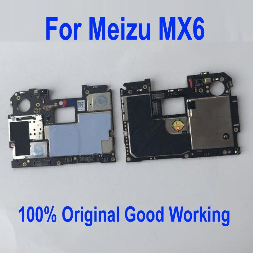 Carte mère de carte mère de panneau électronique Mobile débloqué d'origine pour les Circuits Meizu MX6 32GB