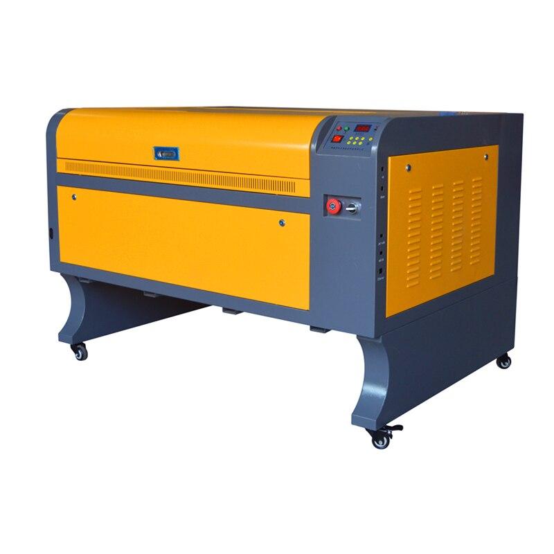 Co2 6090 laser graver la machine de découpe laser pour la pierre de verre graver l'industrie de marquage non métallique 60 w 80 w 100 w en option