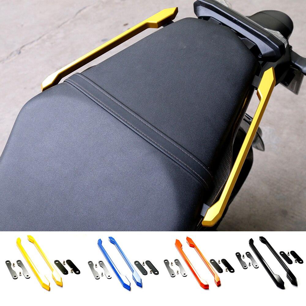Мотоцикл аксессуары ЧПУ алюминиевого сплава заднее пассажирское сиденье ручной ручка поручень рельс для YAMAHA MT09 МТ-09 ФЗ-09 14-17