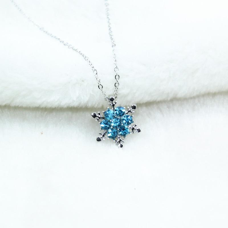 Chaîne Pendentif Bijoux Mariage Pour Femmes Strass Cristal Flocon de neige collier