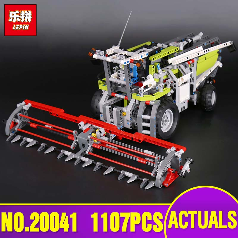 DHL Lepin 20041 Genuine Technic Series The Combine Harvester Set Educational Building Blocks Bricks Toys Model Gift legoing 8274 lepin 02020 965pcs city series the new police station set children educational building blocks bricks toys model for gift 60141
