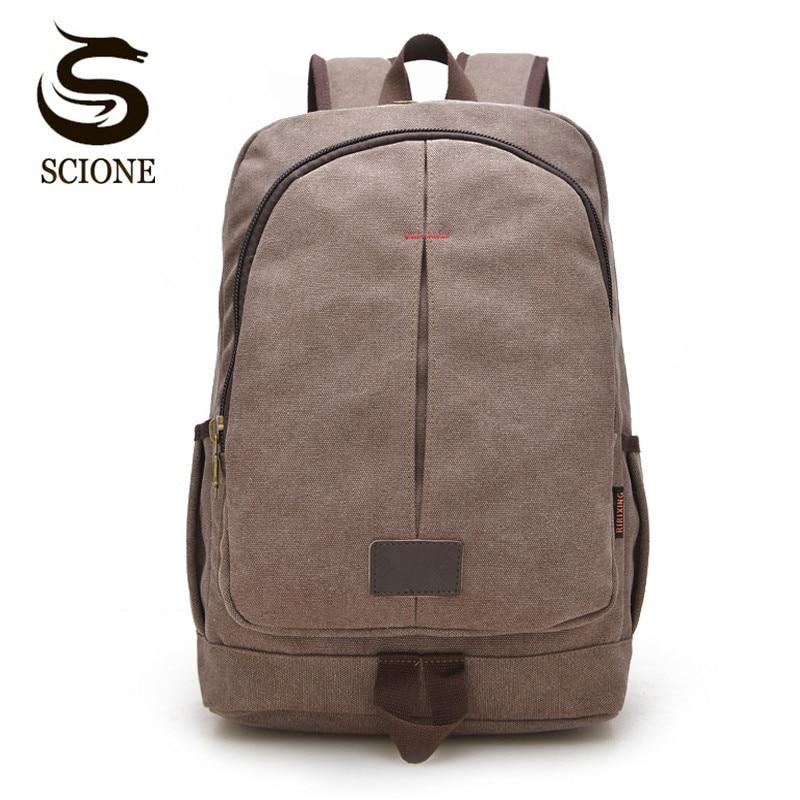 Scione Fashion School Backpack Canvas Preppy Shoulder Bag Teenagers Student Laptop Backpacks Male/Female Travel Rucksack Mochila