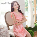 Elegant female sexy sleeveless home dress hollow out lace round neck L-XXL nightgowns for women