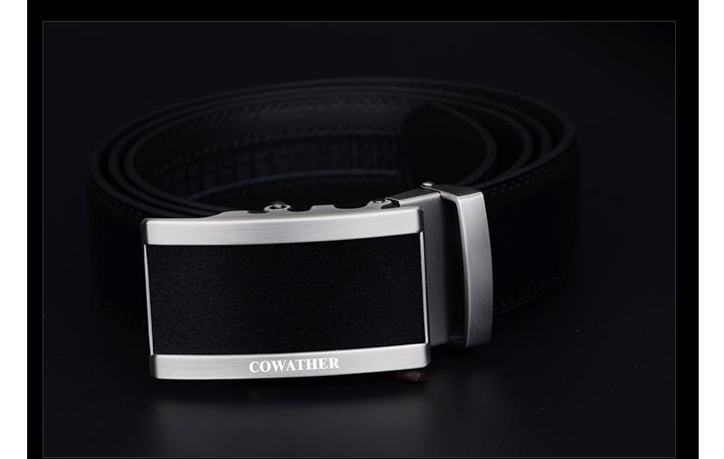 حزام COWATHER  جلد طبيعي للرجال ذو جودة عالية 9