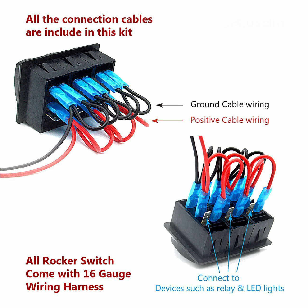 hight resolution of led toggle switch wiring round rocker switch 12v led prewired in detail feedback questions about rocker