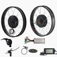 26 x 4.0 electric fat bike rear motor wheel 48v 1500w electric bike bicycle conversion kit for fat bike