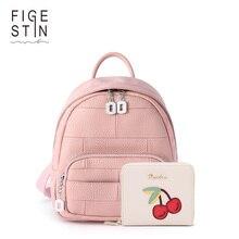 Figestin плед Школьный рюкзак для девочек натуральная кожа Школьные сумки небольшой Kanken модные женские сумки на плечо SAC DOS