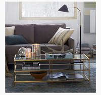 Toughened glass creative contemporary and contracted office table, stainless steel tea table