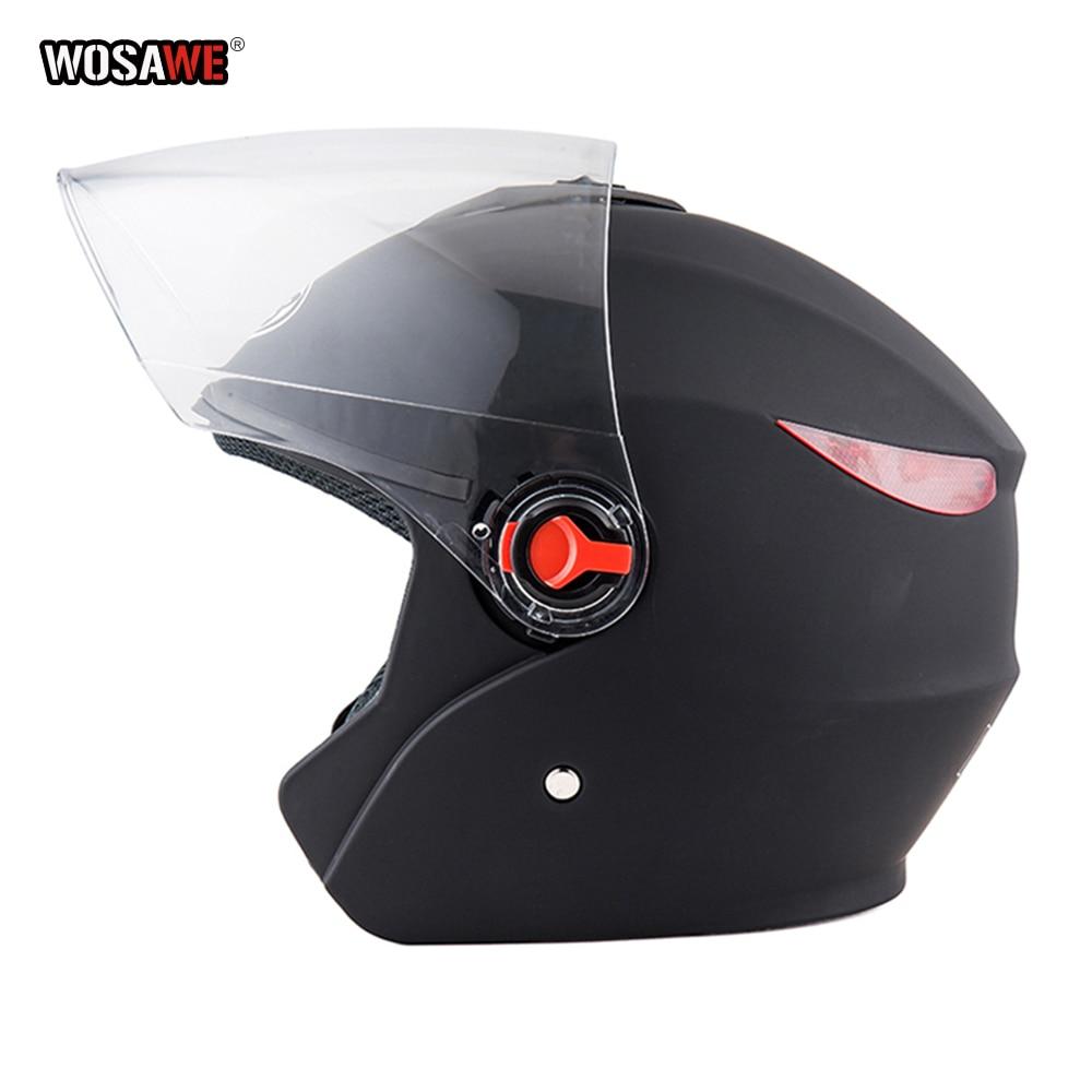 Image 2 - Motorcycle vintage Helmet Four Seasons Racing Half Helmets Motorbike capacete de motocicleta cascos para moto for Women/Men-in Helmets from Automobiles & Motorcycles