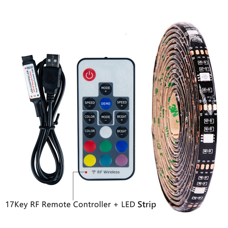 5V 50CM 1M 2M 3M 4M 5M USB Powered LED Strip Light Waterproof SMD 5050 RGB Christmas Decor Lamp Tape TV PC Background Lighting kinlams 5v 50cm 1m 2m 3m 4m 5m usb cable power led strip light smd2835 3528 christmas desk lamp tape for tv background lighting
