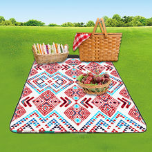 2019 Easter Handle Design 3D Digital Printing Full Polyester Oxford Cloth Picnic Mat sleeping pad piknik Beac colchon inflable(China)