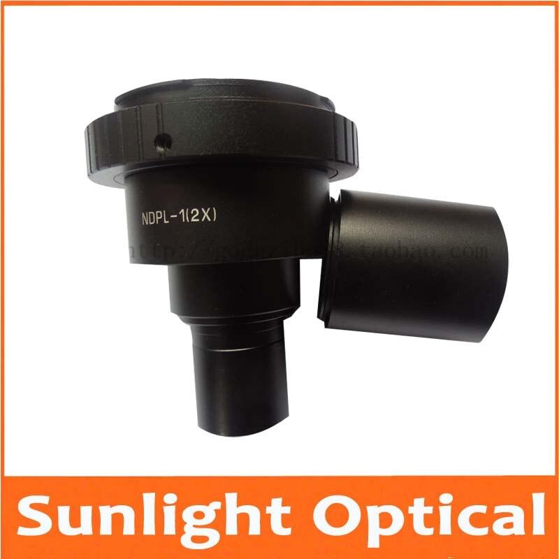 купить 2X Digital SLR Camera interface T2 Adapter Eyepiece Lens for Stereo Biological Microscope 23.2mm or 30mm Nikon Canon Camera по цене 5721.99 рублей