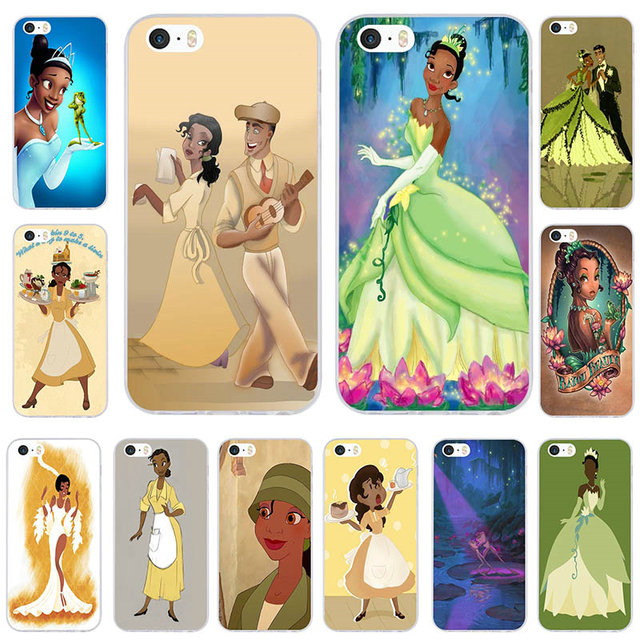 wholesale dealer 7d631 fcf56 US $1.99 |For iphone 5 Case Princess Tiana Soft TPU Silicone Mobile Phone  Cases for iPhone 8 7 6 6S Plus X 10 5 5S SE 5C 4 4S Coque Bags-in ...